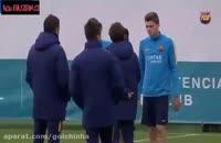 تمرین شاداب بارسلونا برای دیدار با لورکوزن