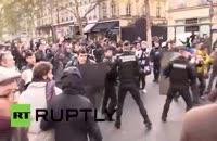 برخورد پلیس فرانسه با تجمع حمایت از مهاجرین