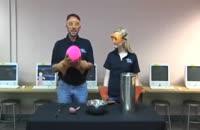 آزمایش هیجان انگیز با نیتروژن مایع و توپ