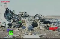 لاشه هواپیمای روسیه در مصر