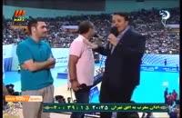جناب آقای خان در سالن آزادی وسط مسابقه والیبال ایران و آمریکا