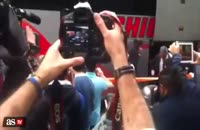 ورود بازیکنان رئال مادرید به شهر تورین