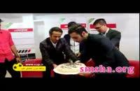 کیک مال کردن بازیکن استقلال توسط بازیکن پرسپولیس