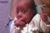 وحشت نوزاد از صدای پدر