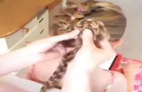 آموزش بافت زیبای موی سر .خیلی قشنگه و ساده