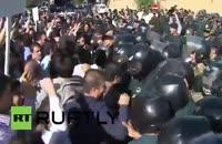 تجمع معترضین به فجایع عربستان در مقابل سفارت عربستان