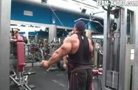 کلیپ بدنسازی پشت بازو ضربدری کابلی