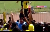 تشویق زیبا و هنرمندانه هواداران تیم نفت مسجد سلیمان
