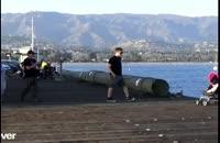 سقوط کالسکه کودک به دریا ( دوربین مخفی )