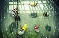 انیمیشن لاروا ماجرای افتادن تو دام عنکبوت----بسیار بامزه