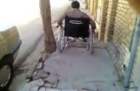 تک چرخ زدن با ویلچر