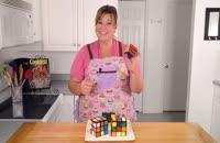 """آموزش تزیین جالب برای کیک """"طرح روبیک"""""""