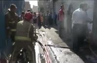 آتشسوزی در انبار پارچه خیابان مولوی