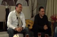شوخی، خنده و ترانه خوانی ستاره ها با خواننده مشهور پاپ در شبی که پوریا پورسرخ برای مهمانانش سنگ تمام گذاشت/شام ایرانی